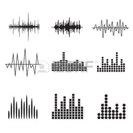 Vector Sound Wave Sound Wave Icon Set Music Soundwave