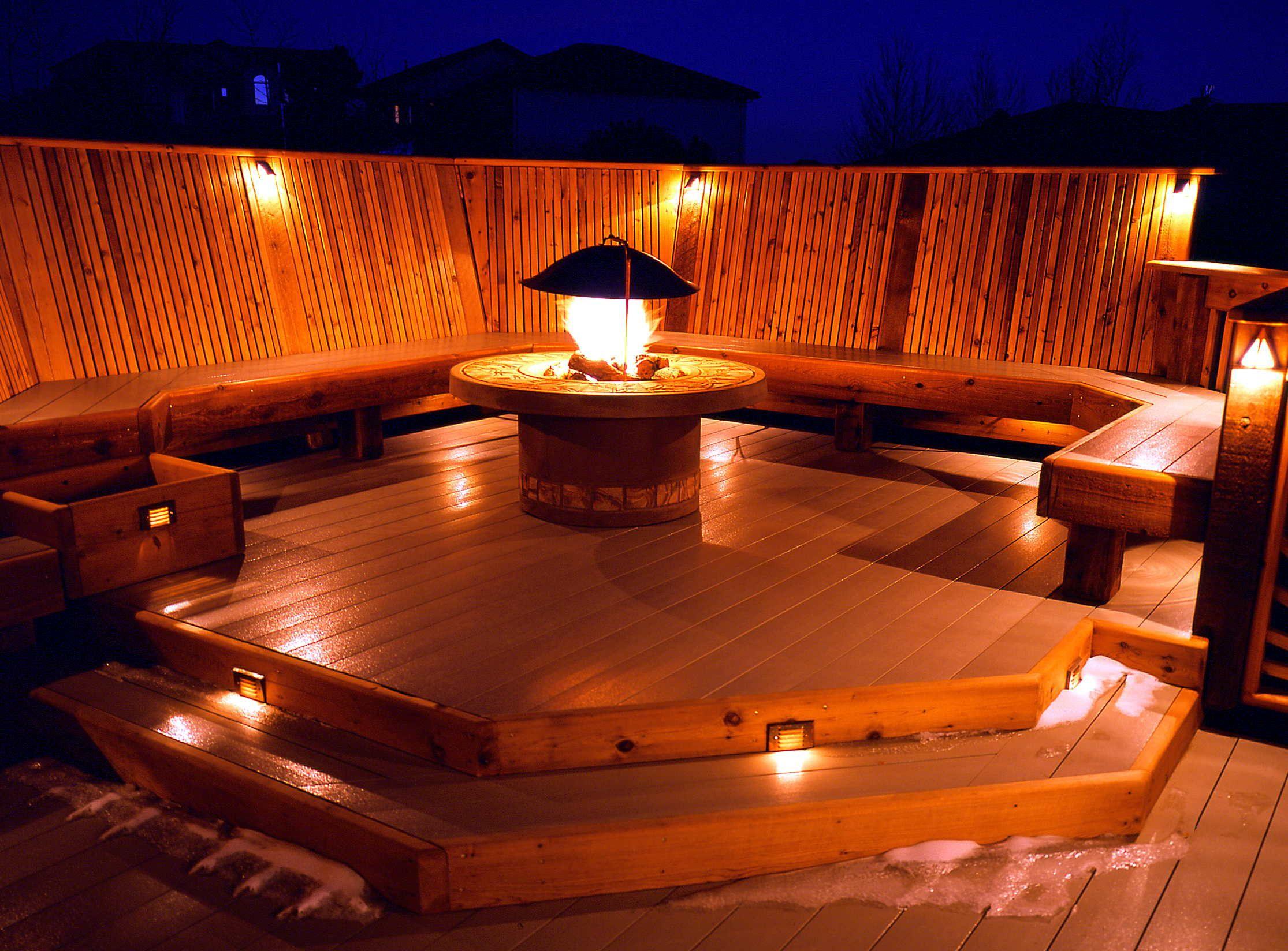 deck lighting Deck lighting Pinterest