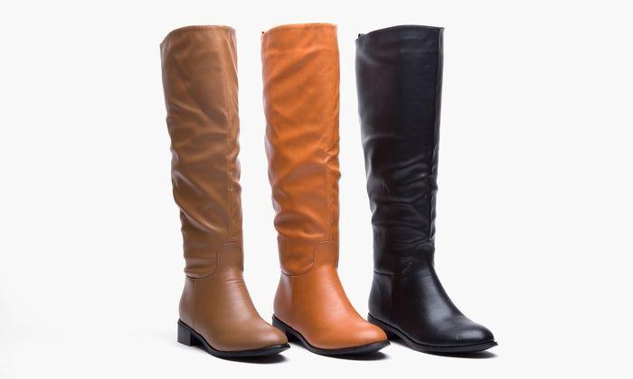Sociology Women s Wide-Calf Flat Riding Boot  Sociology Women s Wide-Calf  Flat Riding Boot  bb81a22a5