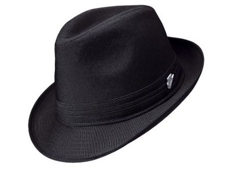 A fedora is a felt hat most commonly worn by men. The hat is typically  creased lengthwise down the crown and
