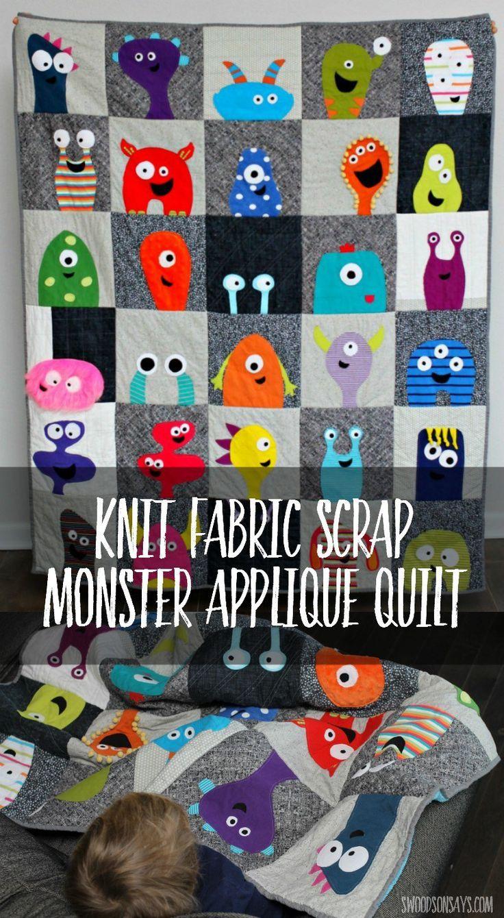 Monster Applique Quilt | Nadel und Faden, Faden und Nähen