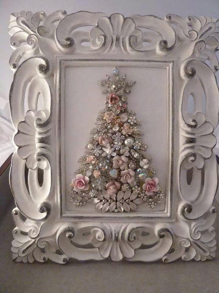 Framed Christmas Tree | Tis the season :) | Pinterest | Navidad ...