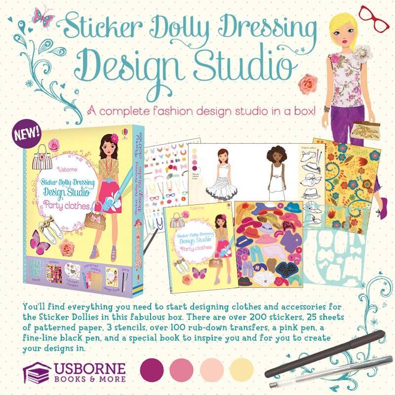 Sticker dolly dressing design studio fashion usborne books