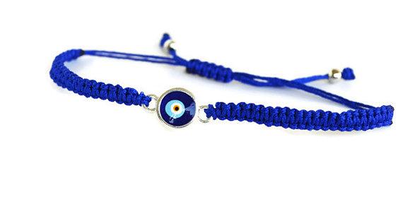 Evil Eye Bracelet Blue String Jewelry Adjule Charm Turkish Nazar Macreme