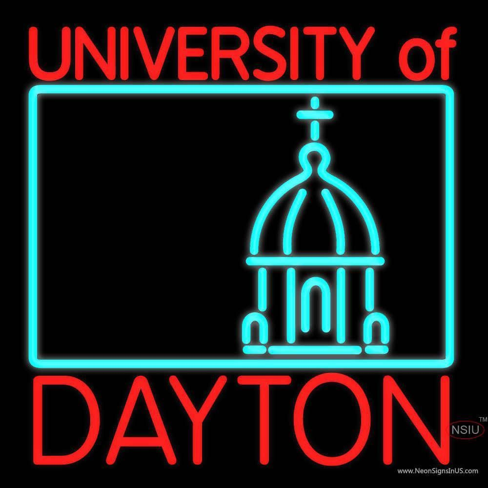University Of Dayton Real Neon Glass Tube Neon Sign X University Of Dayton Neon Signs Dayton