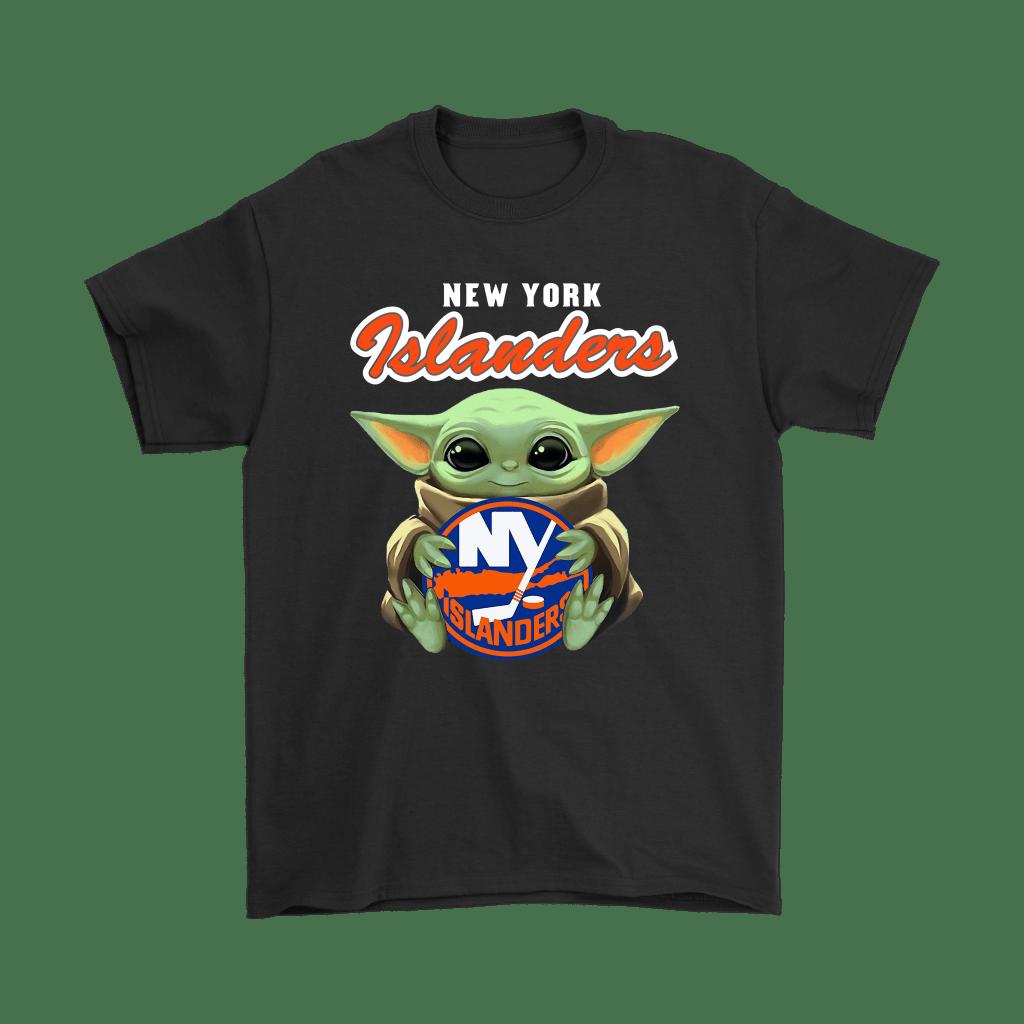Baby Yoda Hugs The New York Islanders Ice Hockey Shirts - TeexTee Store   Star Wars Theme – Baby