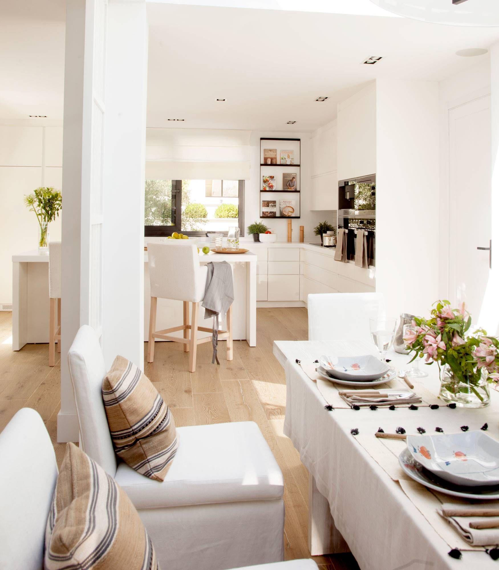 50 cocinas abiertas al comedor y al sal n ideas para el for Cocina abierta al salon o comedor