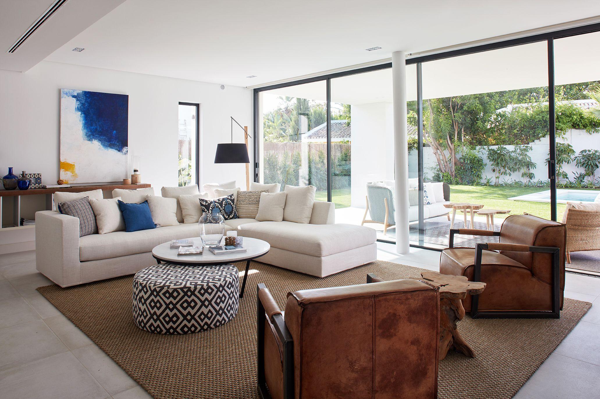 Living room in Marbella La Albaida Interior Design project Neutral