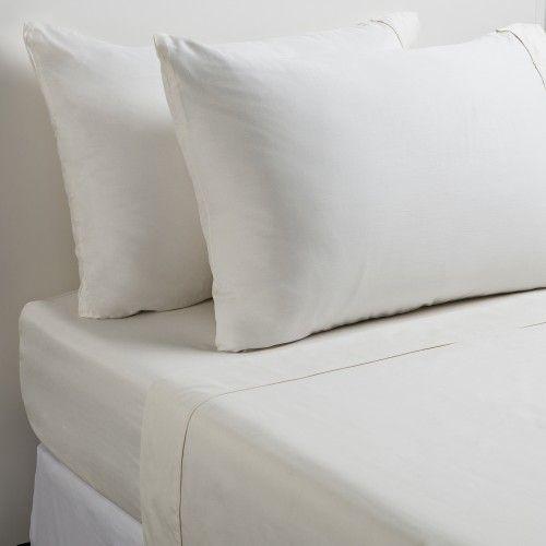 Luscious Bamboo Filled 300tc White Cotton Blanket
