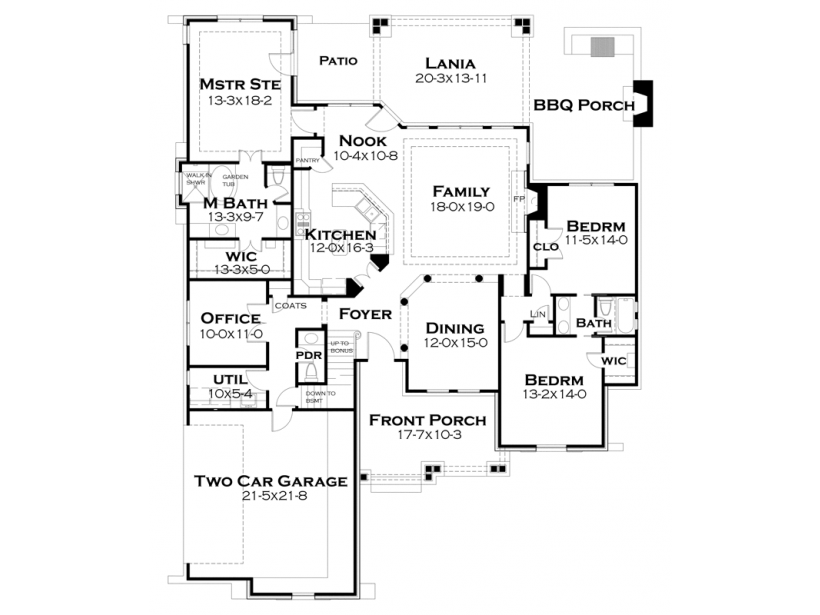 Bungalow Style House Plan 3 Beds 2 5 Baths 2234 Sq Ft Plan 120 245 Craftsman Style House Plans Cottage House Plans House Plans