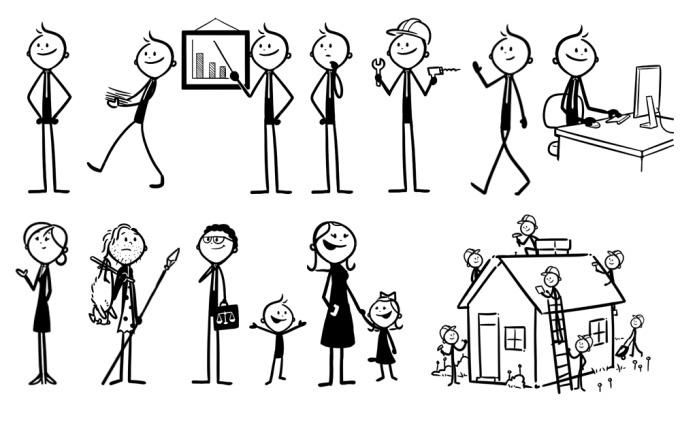 43++ Stick figure clipart drawing information