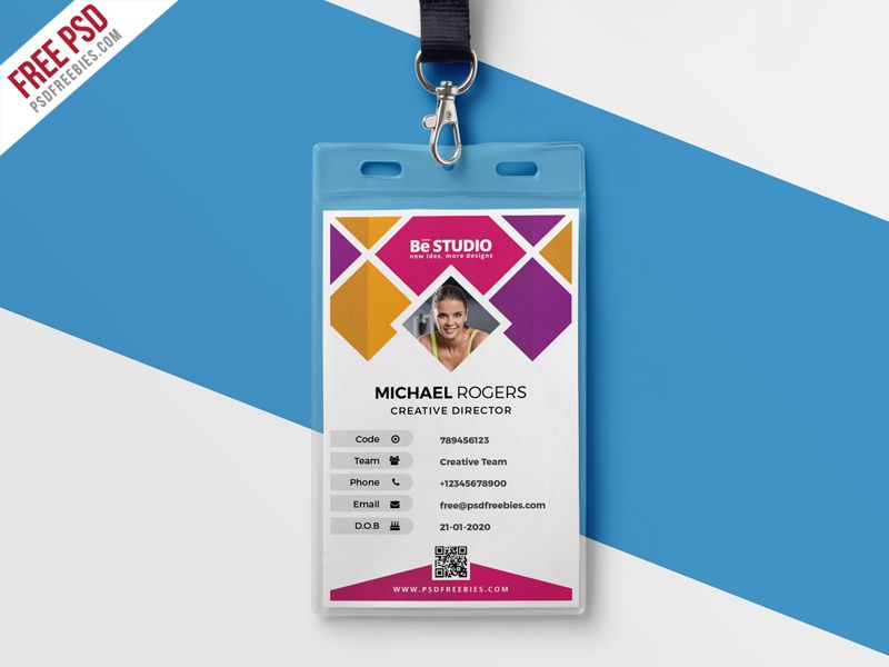 Creative Office Identity Card Psd  Creative