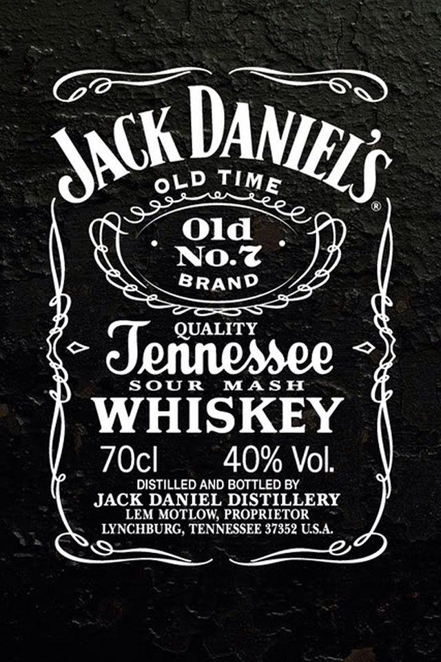 Jack Daniels Whiskey Iphone Background And Wallpaper Etiqueta De