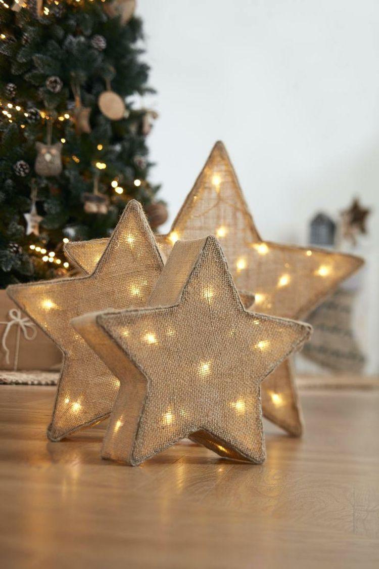 weihnachtsstern beleuchtung basteln leinenstoff. Black Bedroom Furniture Sets. Home Design Ideas