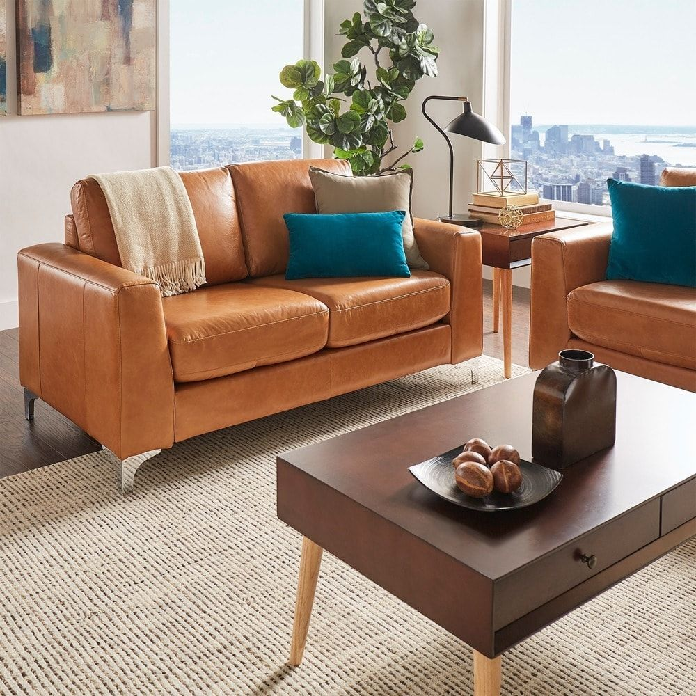 Bastian Aniline Leather Sofa by iNSPIRE Q Modern Leather