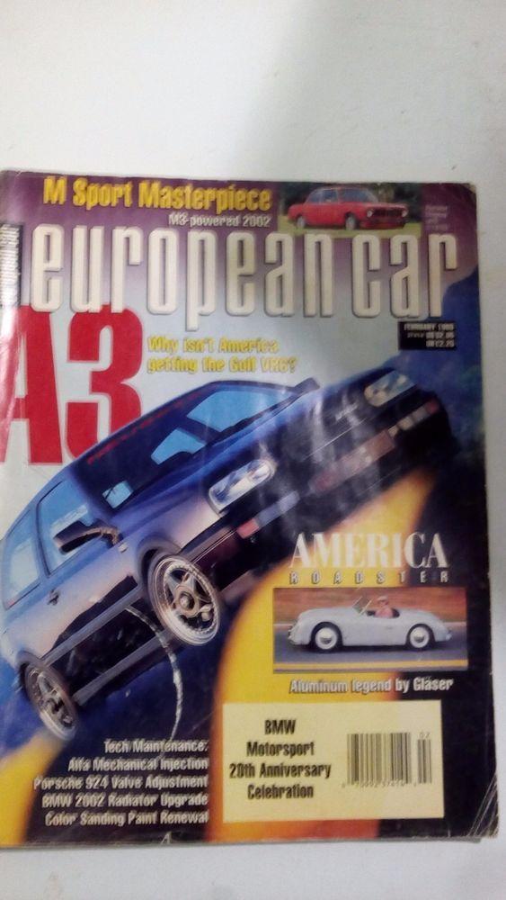 European Car Magazine Febuary 1993 1992 February Automobile