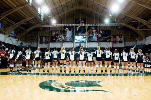 Jenison Field House Home Of Michigan State Volleyball Michigan State Volleyball Women Volleyball Volleyball