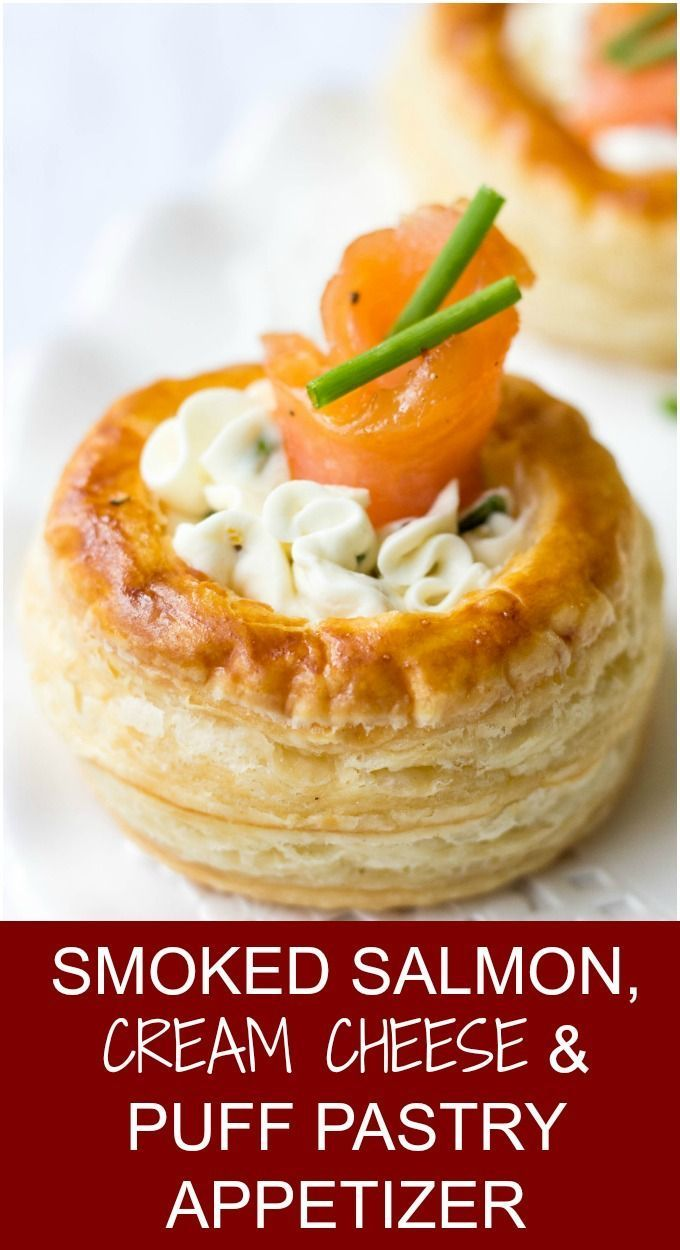 Cream Cheese And Smoked Salmon Vol Au Vents - Lavender & Macarons