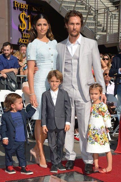 Camila Alves, Matthew McConaughey, and their children in Dolce & Gabbana