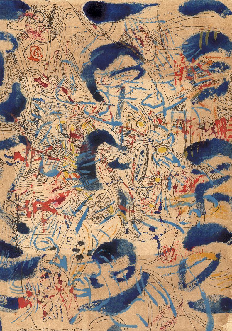 Navíos. Técnica mixta sobre papel. 30x21cm.#ignacioklindworth. Barcelona 2004.