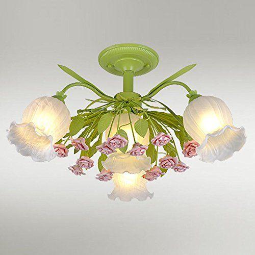 Romantische Blumen Schlafzimmer Deckenleuchte Lampe Pasto... https ...