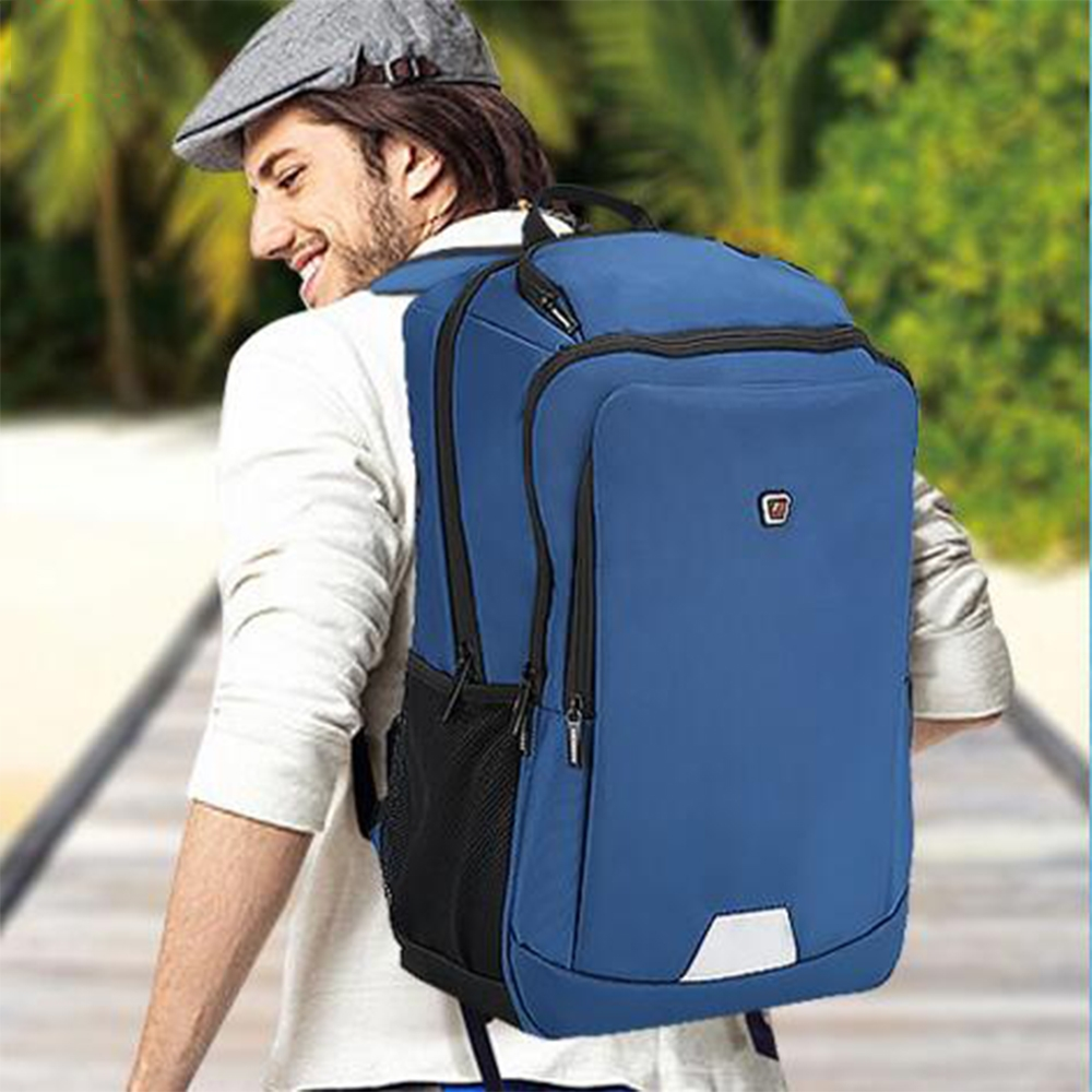 41.02$  Buy here - 2017 Backpack Travel Men 15.6 Inch Business Computer Polyester Laptop laptop backpack Leisure Fashion Men Blue Bags  #magazineonlinebeautiful