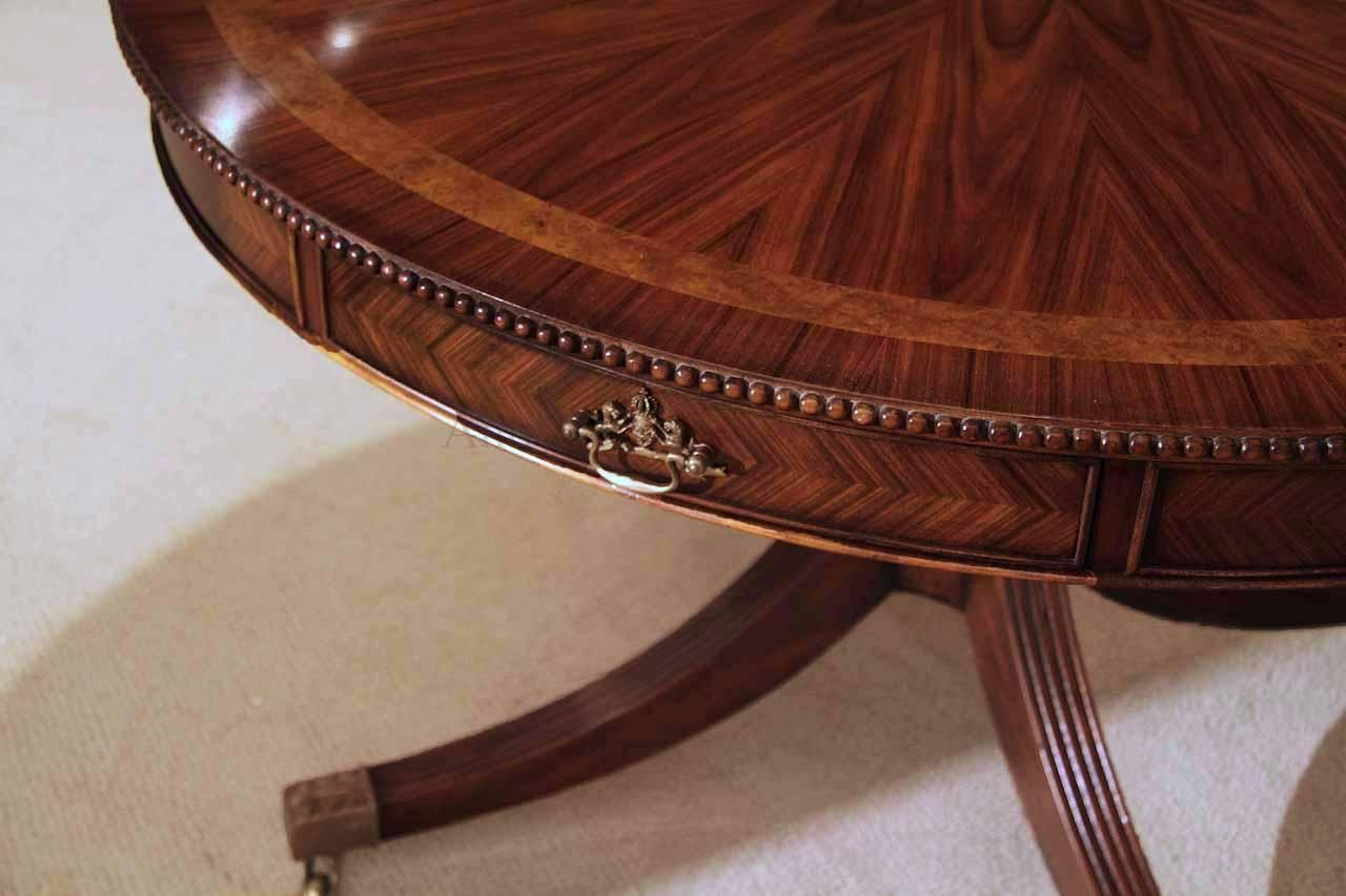 48 Inch Round Mahogany Table Theodore Alexander Al54014 Dining Table With Drawers Rosewood Dining Table