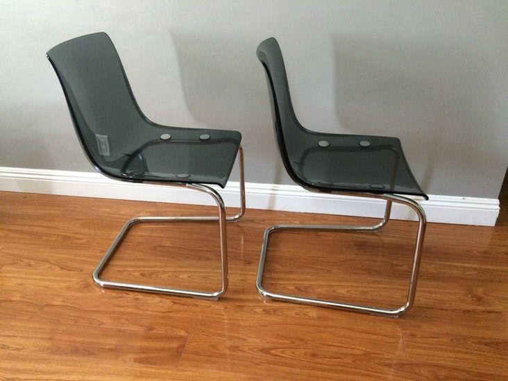 2 Ikea Tobias Chairs Gray
