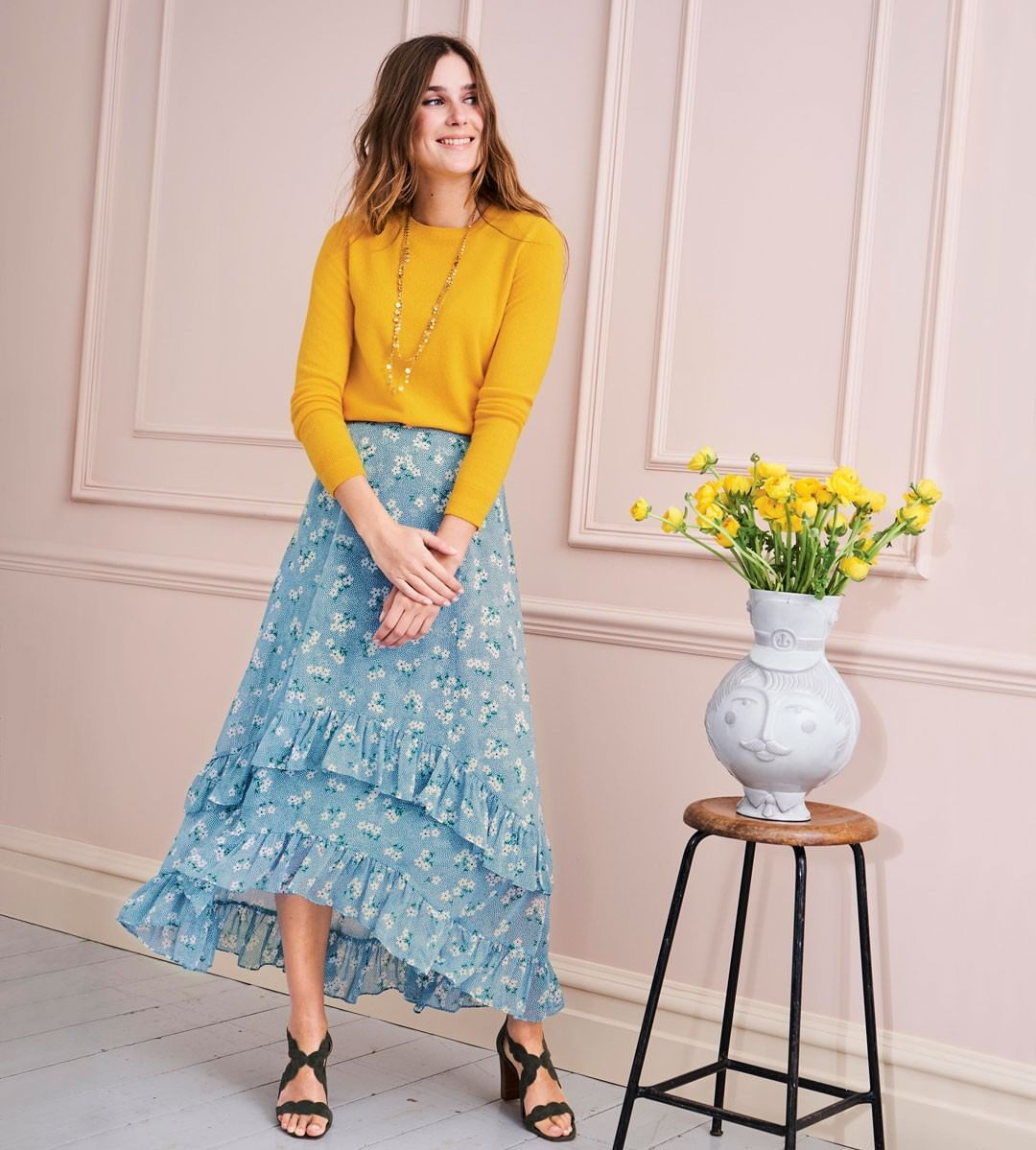 "f334df54e678 Boden on Instagram: ""There's 25% OFF everything – send yourself flowers (on ruffle  midi skirts) using the code T7N1 in the UK, and F1N8 in the US."""