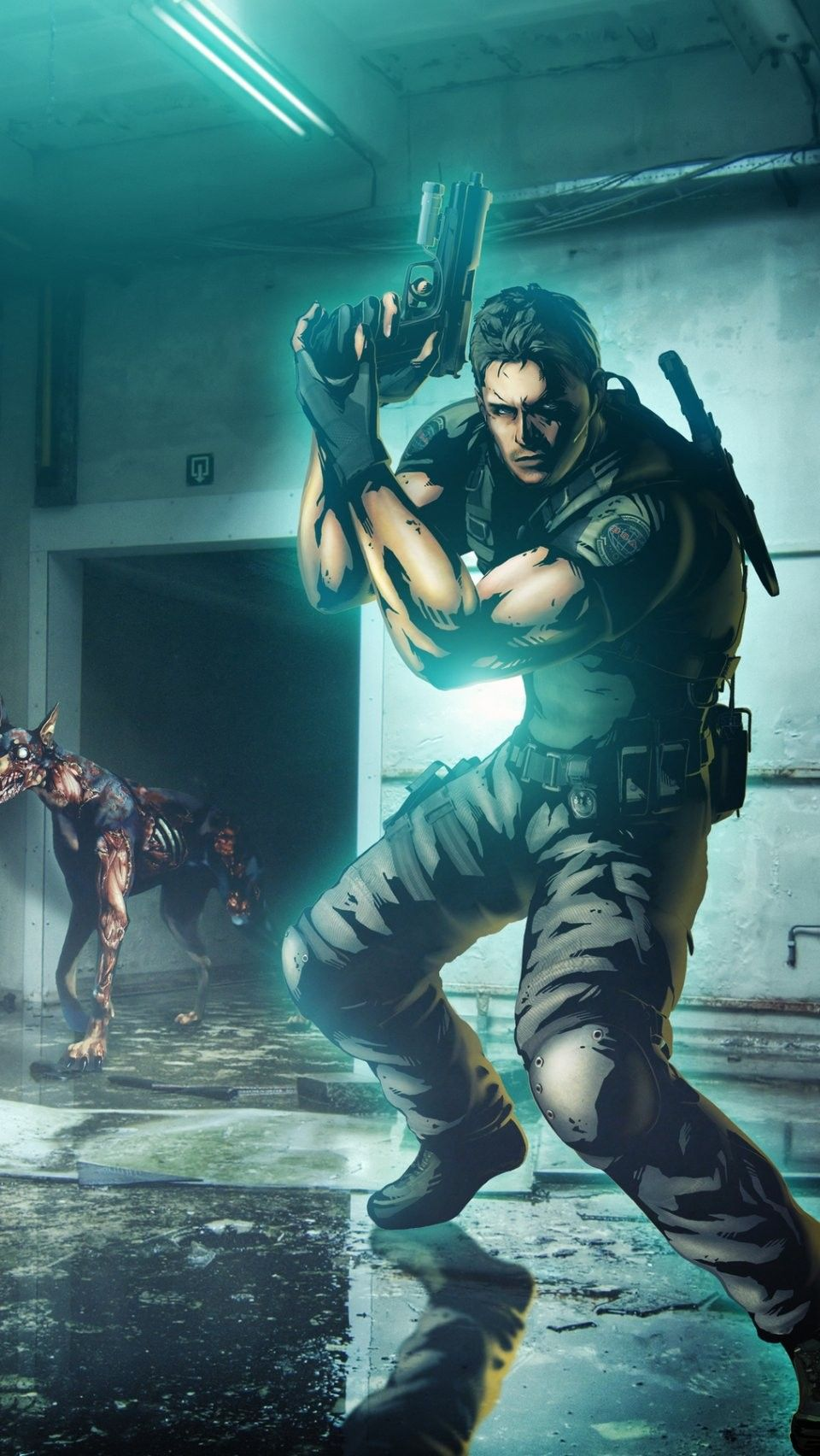 Chris Redfield Marvel vs Capcom 3 iPhone 6 wallpaper - Resident Evil iPhone 6 Wallpapers ...