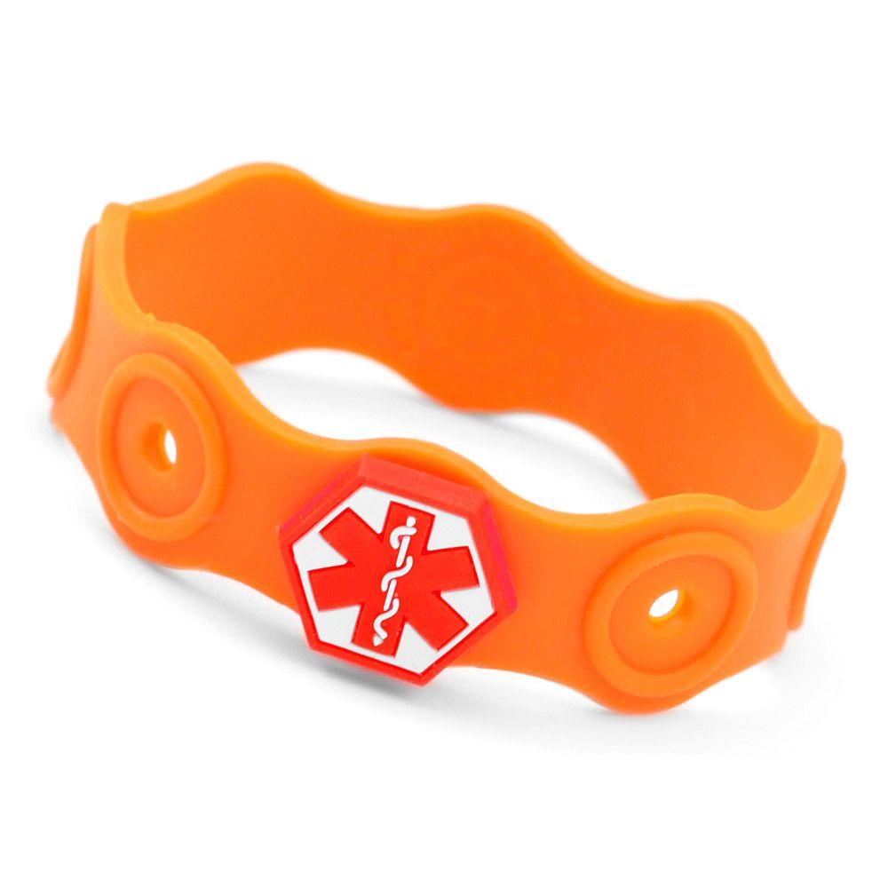 Medical Allergy Kids Rubber Bracelet Stretch Ons