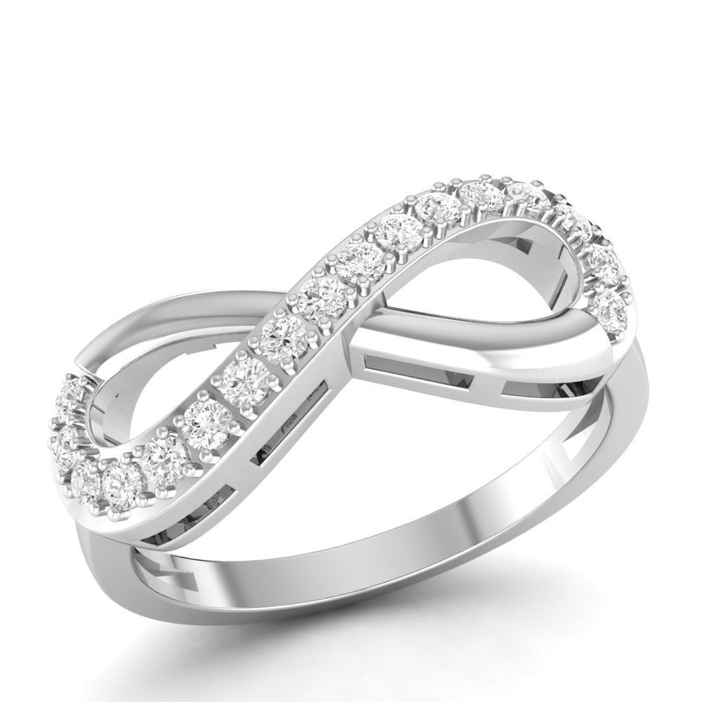 0 22 Ct Real Genuine Diamond Si Hi Engagement Infinity Ring Solid 10k White Gold Vijisan Infinity Engagementweddingpromisemem Engagement Rings Infinity Ring