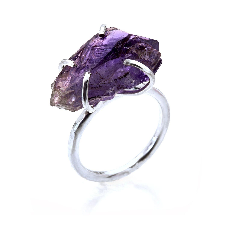 Amethyst Rock Ring | Caroline Stokesberry-Lee | Wolf & Badger