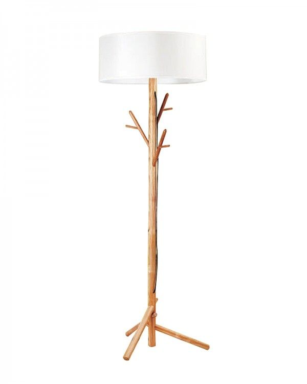 Modern style wooden floor lamp with white shade and branch shape modern style wooden floor lamp with white shade and branch shape base aloadofball Gallery