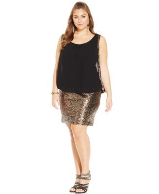 eb63deb27b6 City Chic Plus Size Sequined Bodycon Party Dress