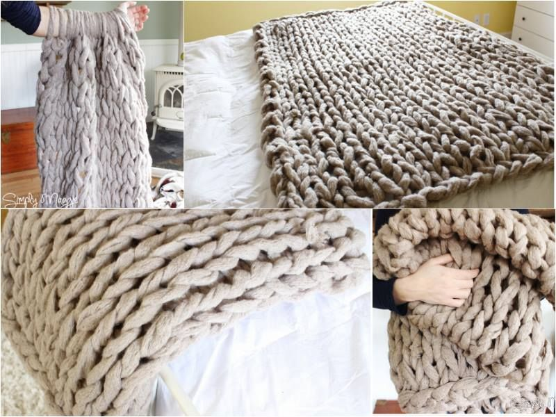fancy 45 minutes diy arm knitted blanket ungew hnliche ideen pinterest tagesdecken diy. Black Bedroom Furniture Sets. Home Design Ideas