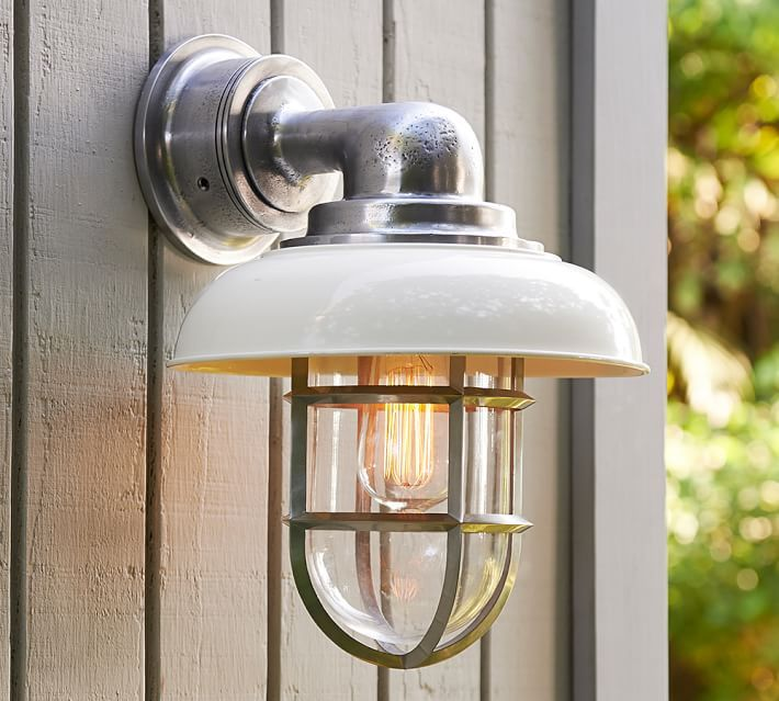 Avalon Indoor Outdoor Sconce Pottery Barn