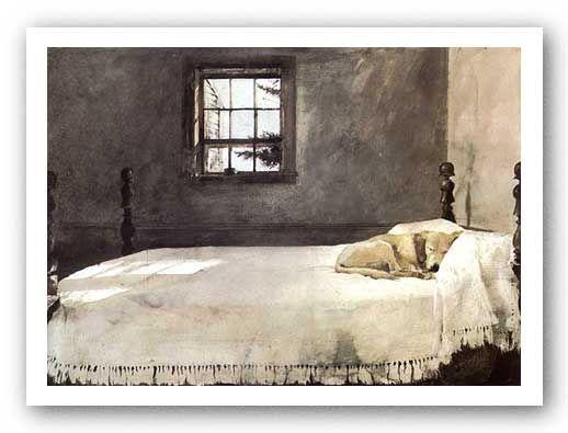 Master Bedroom Andrew Wyeth DOG ON BED SLEEPING | honey ...