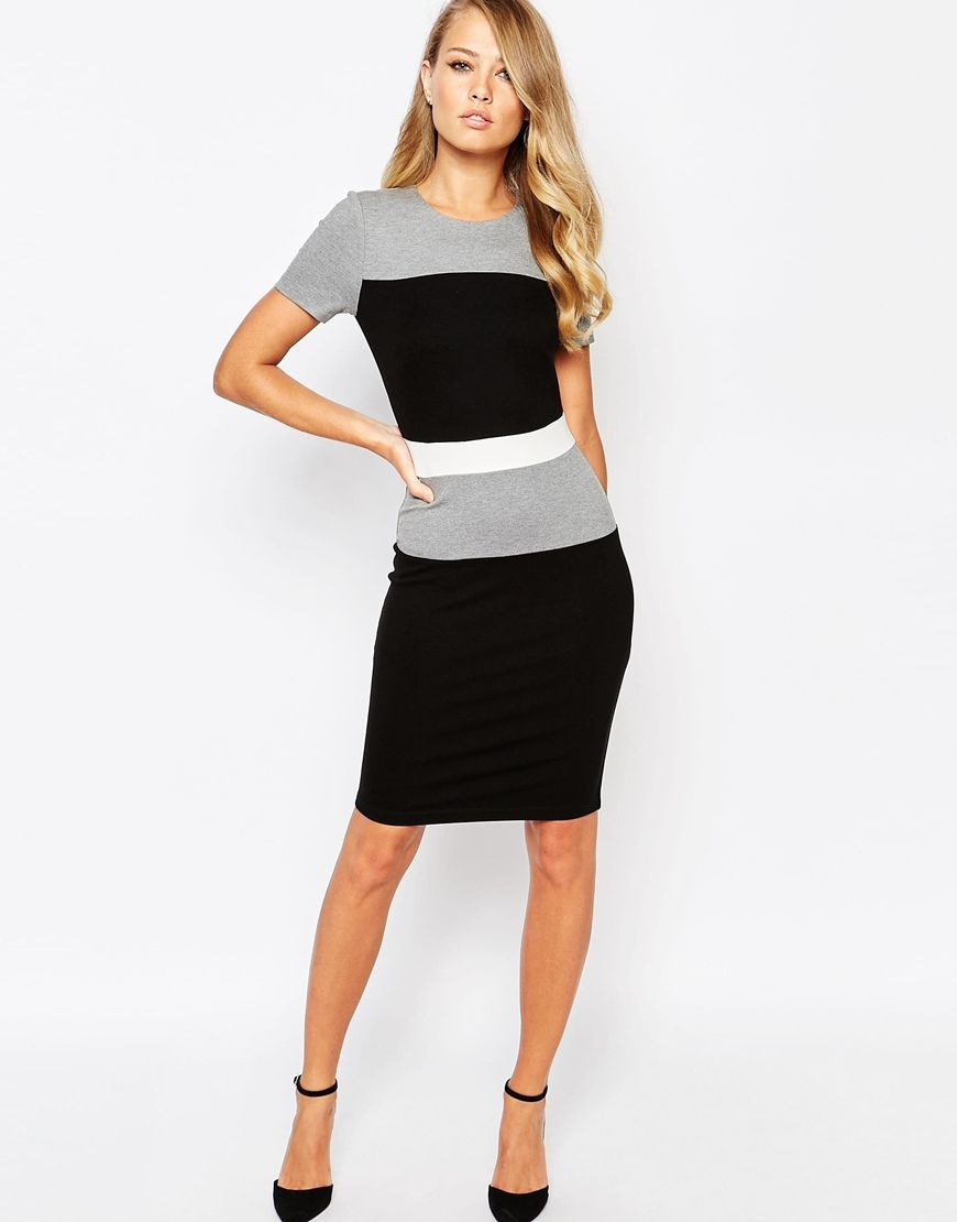 905ad6a2097 French Connection Lula Stretch Color Block Dress