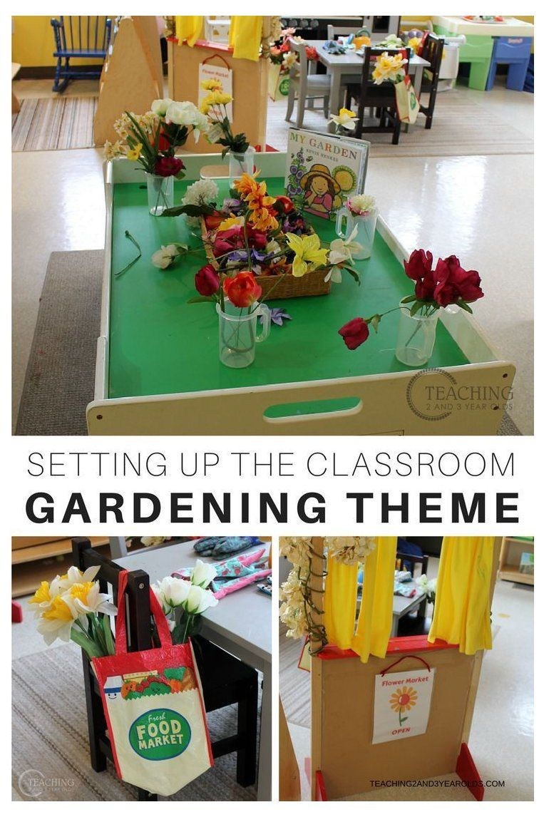 Setting Up the Classroom for the Gardening Theme #preschoolclassroom