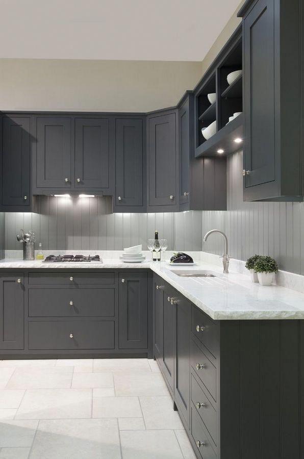 24 Elegant Dark Grey Kitchen Cabinets Paint Colors Ideas ...