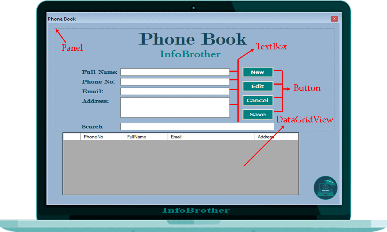 C# Project - Phone Book: InfoBrother