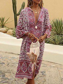 d72c089c9e0 Maxi Linen Summer Buttoned Solid Casual Shirt Dresses - JustFashionNow.com