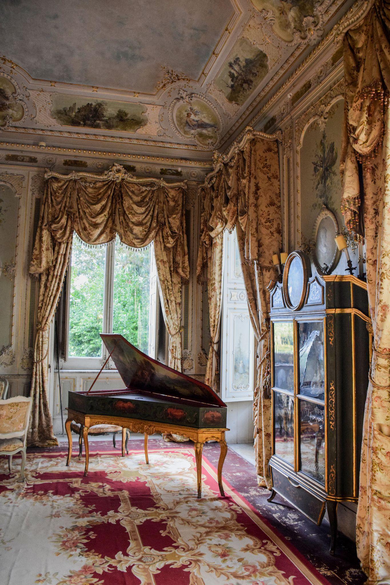 Palermo Villa Malfitano Whitaker Manor Interior Italian Homes Interiors Castles Interior