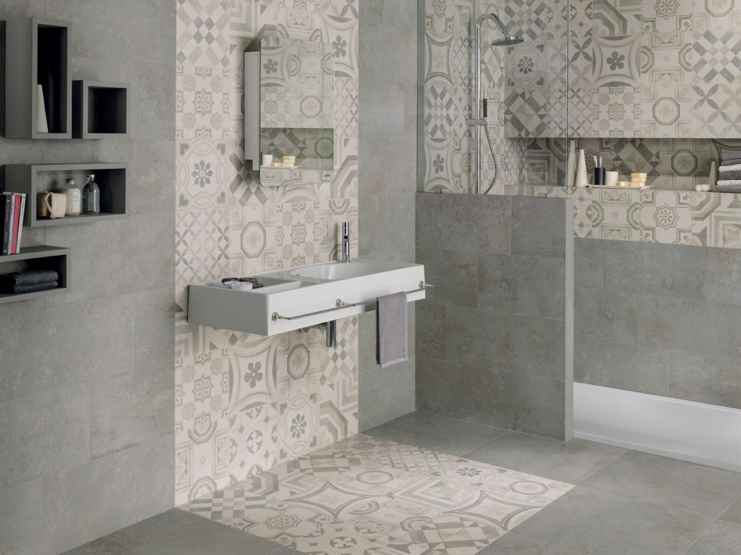 Cementine ceramiche keope bathroom trend 2016 for Deco sdb 2016