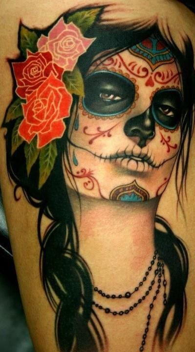 La Catrina Tattoo Meu Estilo Tatuagem Tatuagem border=