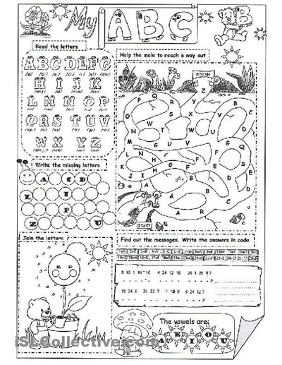 my abc worksheet Free ESL printable