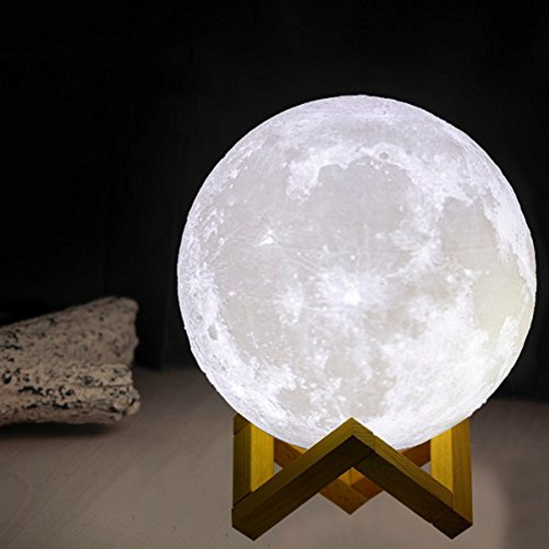 Moon Lamp 3d Printing Led Lighting Night Light Mookzz Enchanting 3 D Full Luna Lunar Bedside Lights Magical Bab Kids Table Lamp Bedside Lighting Nursery Lamp
