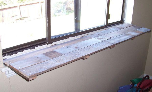 Pallet Wood Window Sill Plant Shelf Wood Window Sill Kitchen