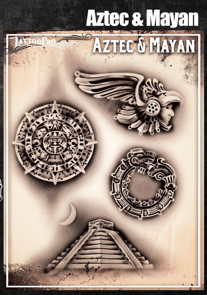 f789c7fd0 Aztec & Mayan Pyramid Tattoo, Grey Tattoo, Color Tattoo, History Tattoos,  Aztec